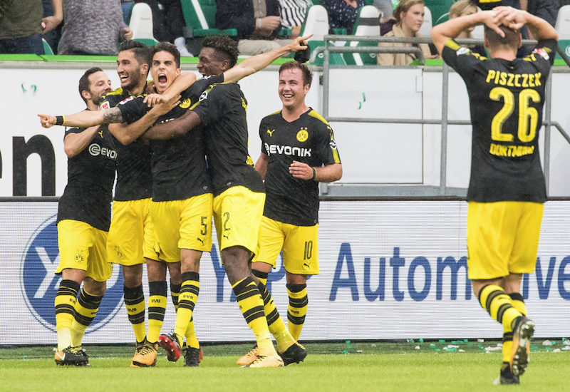 Dortmund golea al Wolfsburgo