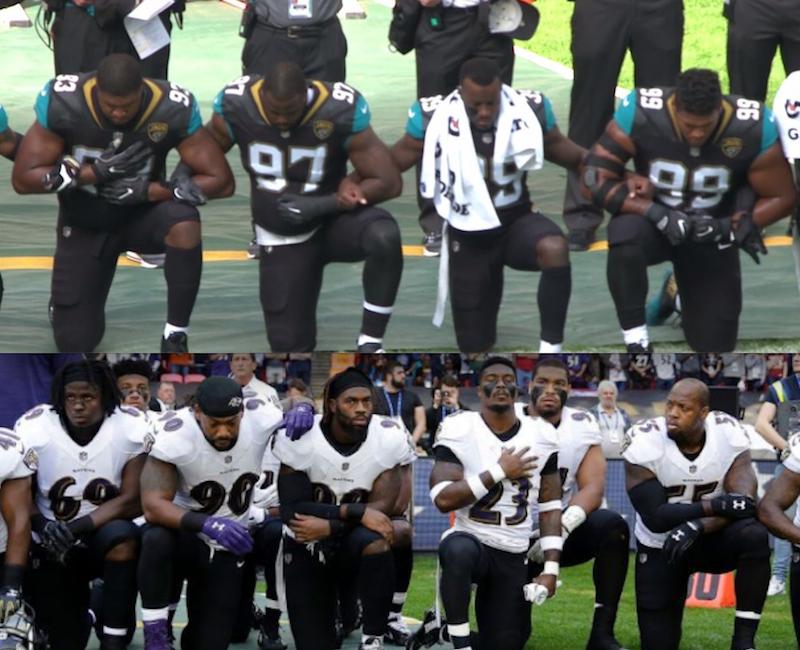 Jaguars y Ravens se unen a protesta contra Trump