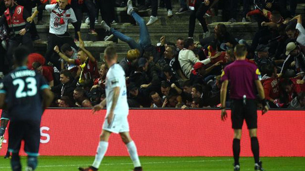 Gol de Lille desmoronó parte de la tribuna del Amiens