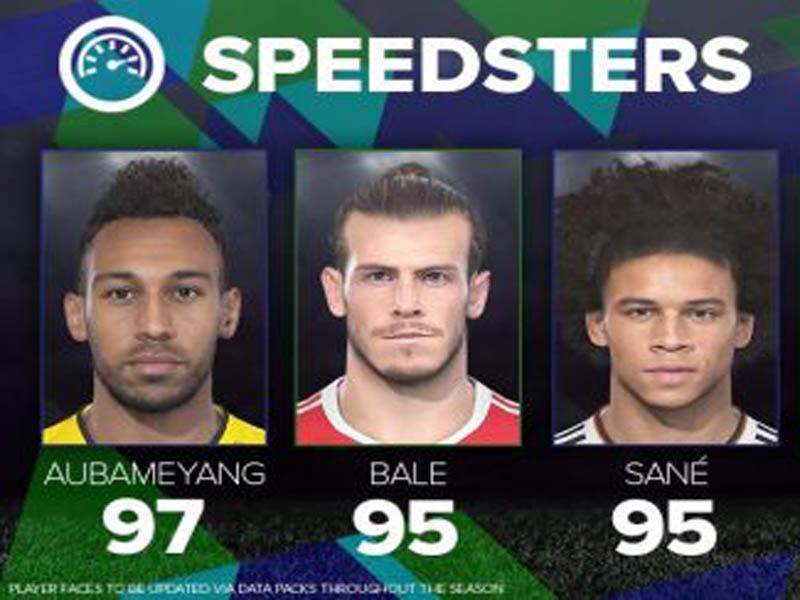Los 5 jugadores más veloces que tendrá el PES 18