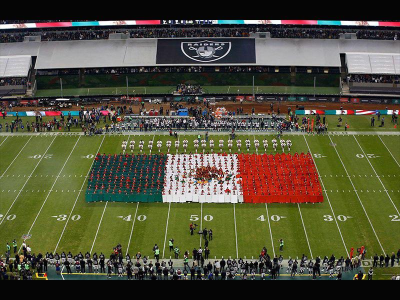 No se cancela el juego de Raiders-Patriotas en México