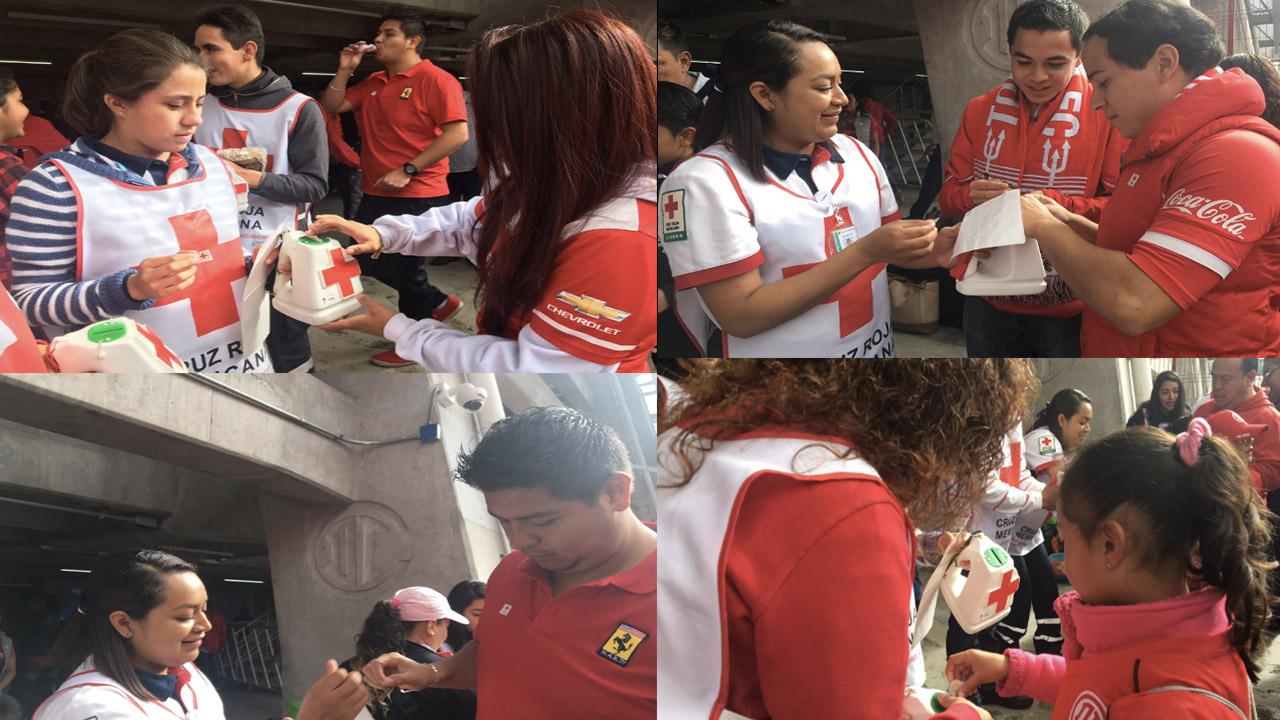 Toluca y Cruz Roja reciben apoyo en Nemesio Diez