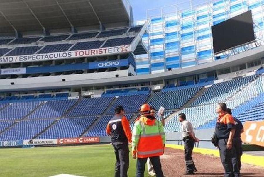 Estadio Cuauhtémoc presenta daños tras sismo