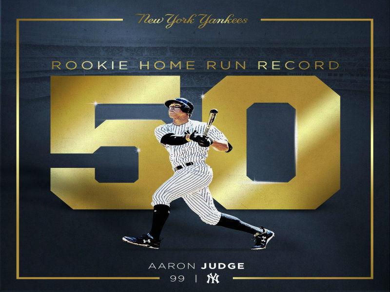 Aaron Judge impone un nuevo récord de HR para novatos