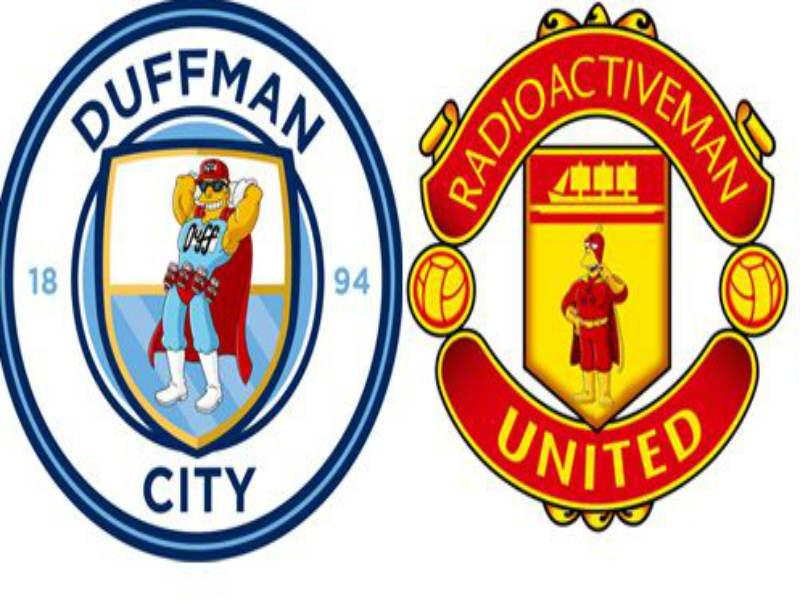 Escudos de la Premier League al estilo de Los Simpsons