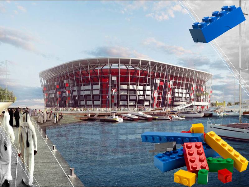 Video: Catar 2022 contará con un estadio tipo 'Lego'