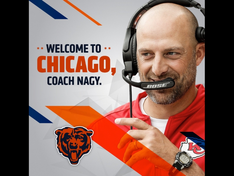 Osos de Chicago nombran a Matt Nagy como nuevo entrenador en jefe