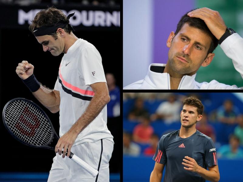 Federer a cuartos; Djokovic y Thiem a casa