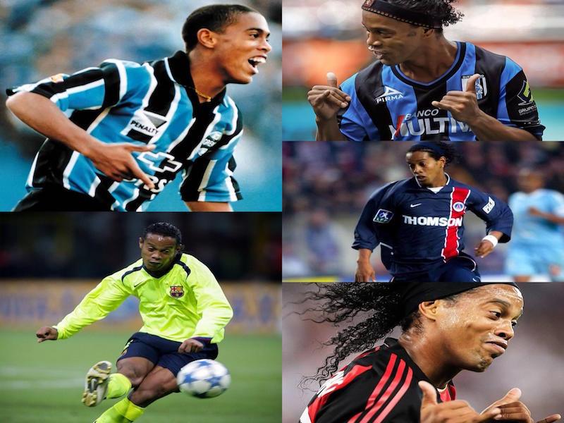 5 momentazos de Ronaldinho en el futbol