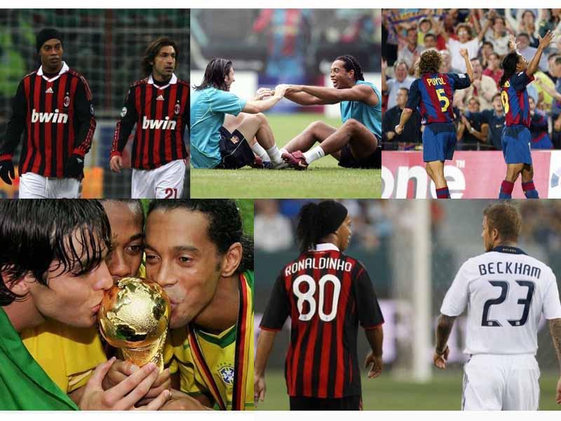 'Cracks' del futbol dan adiós a Ronaldinho