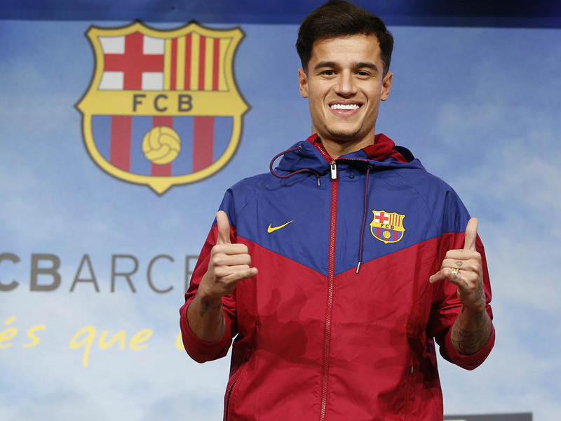 Coutinho es presentado en el Camp Nou