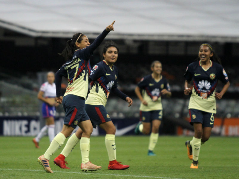 América golea a Cruz Azul en clásico joven femenil