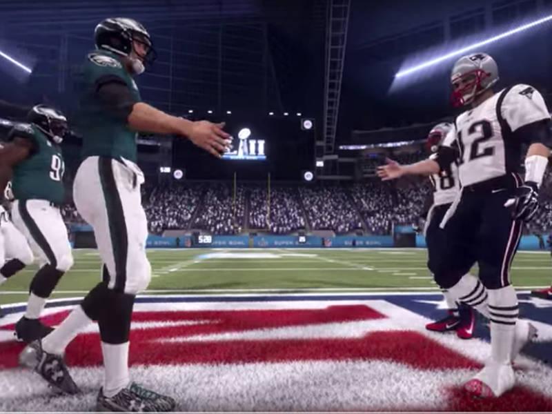 Predicen ganador del Super Bowl LII en videojuego
