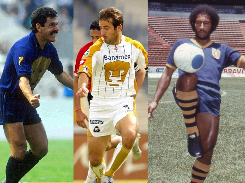 El 11 histórico de los jugadores de Pumas