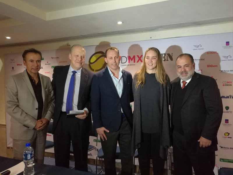 Presentan primera edición del CDMX Open de tenis