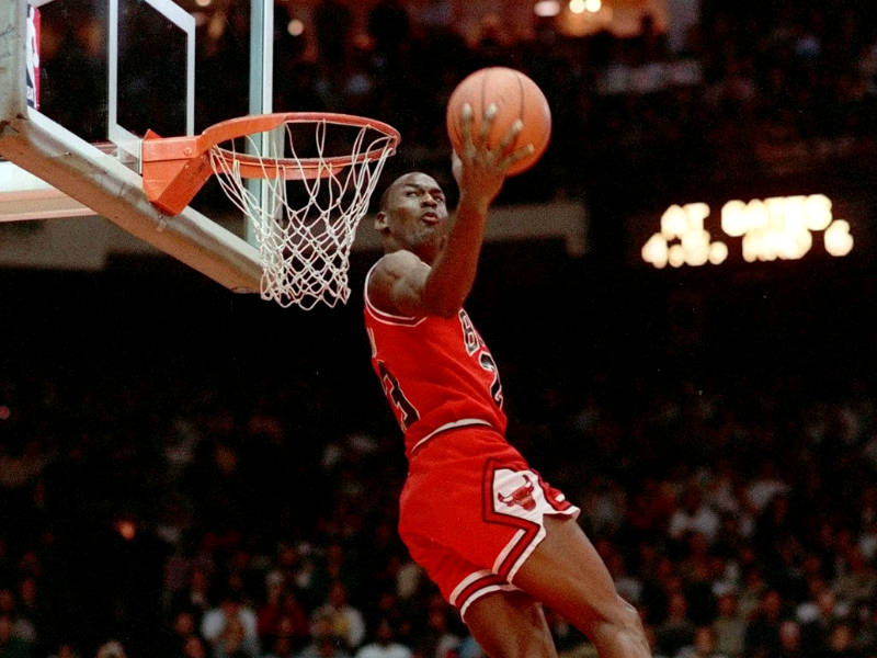 ¡Michael Jordan, una leyenda del Concurso de Clavadas!