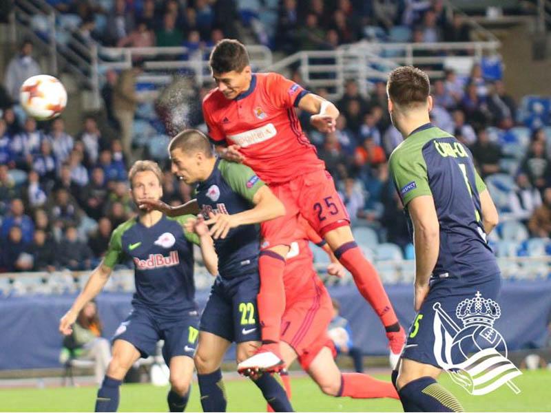 Moreno vuelve 'en plan grande' al debutar con la Real Sociedad