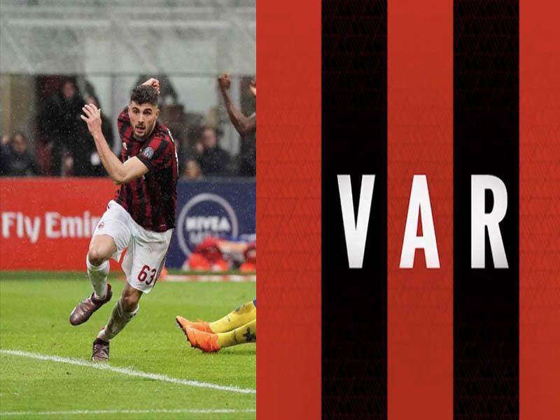 VAR aparece en triunfo del AC Milan
