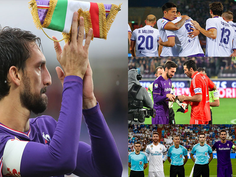Cracks del futbol dan último adiós al capitán de Fiorentina