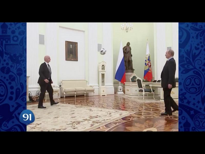 VIDEO: Las dominadas de Infantino y Putin