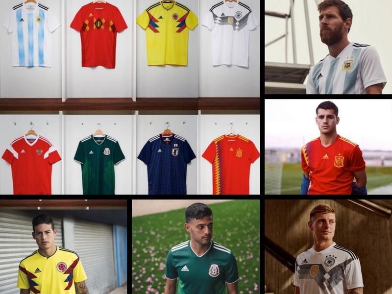 Las camisetas del Mundial Rusia 2018