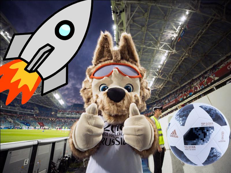 Balón y mascota de Rusia 2018 rumbo al espacio
