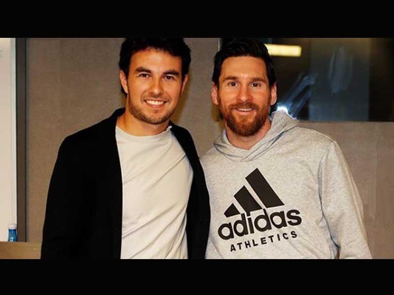 'Checo' Pérez convive con Messi en Barcelona