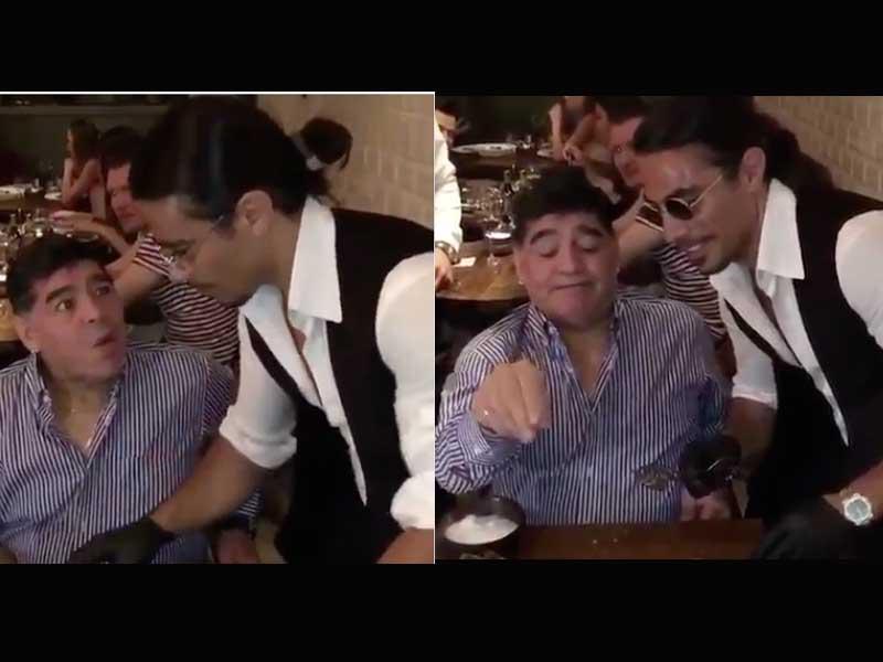 VIDEO: Maradona y Salt Bae protagonizan épico momento