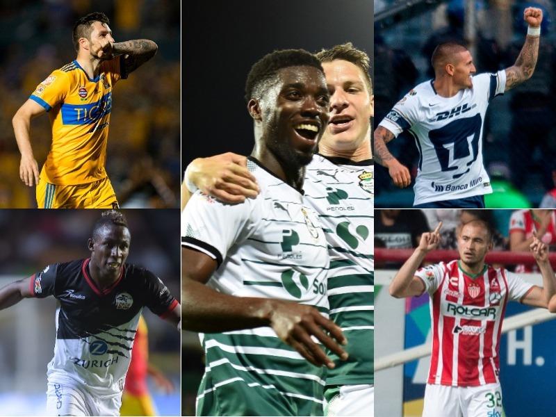 ¡Sin mexicanos, el Top 5 de goleo individual de la Liga Mx!