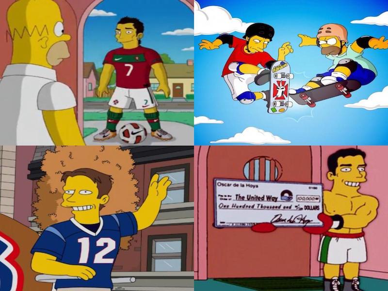 Deportistas que la rompieron en los Simpson