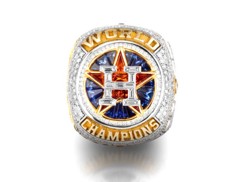 Astros presumen anillo de campeones