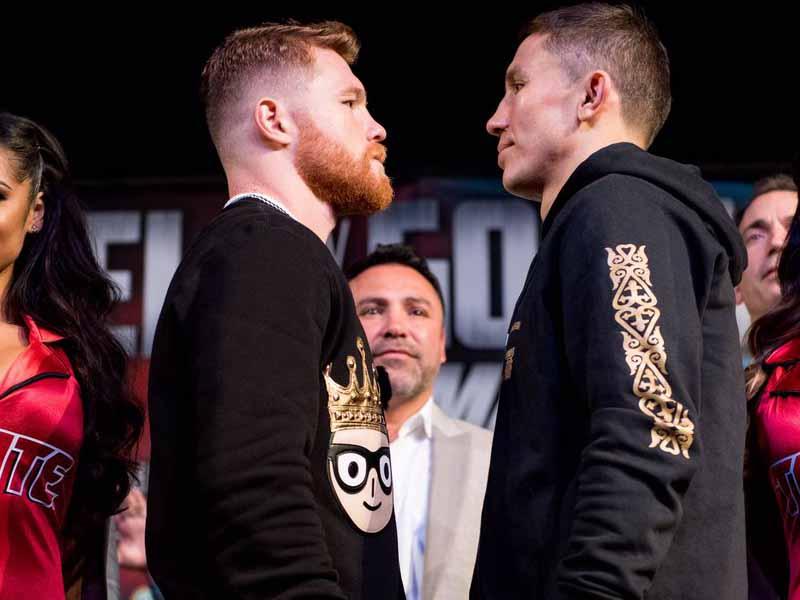 'Canelo' y Golovkin se calientan previo a la pelea