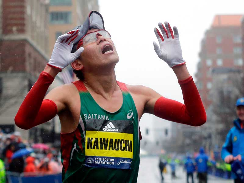 Japonés y estadounidense ganan Maratón de Boston 2018