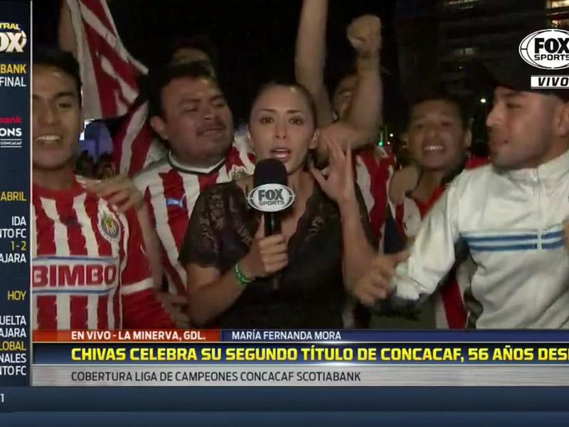 Reportera sufre acoso sexual en festejos de Chivas