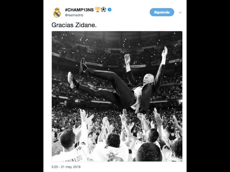Así se despiden de Zidane sus jugadores