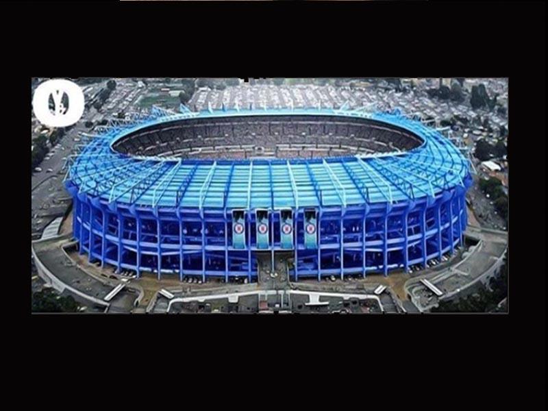 ¿Estadio Azteca se pinta de Azul?