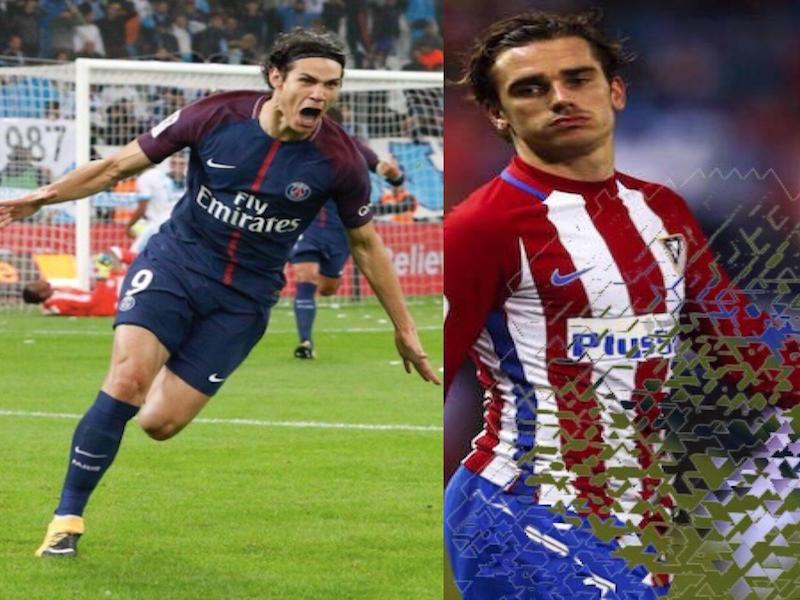 Cavani supliría la salida de Griezmann en el Atletico de Madrid