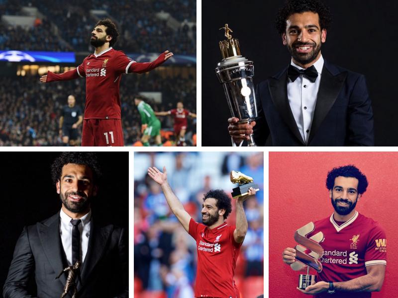 Salah se lleva a casa 34 trofeos en un año