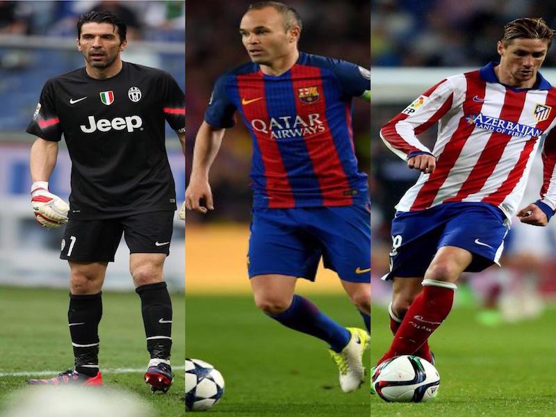 Buffon, Iniesta y Torres se despiden del club de sus amores