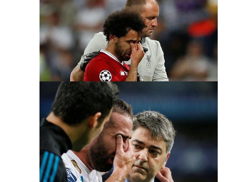 Salah y Carvajal salen lesionado de la Final de Champions