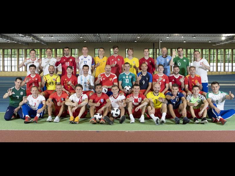 Rusia se viste con los colores de las 32 selecciones