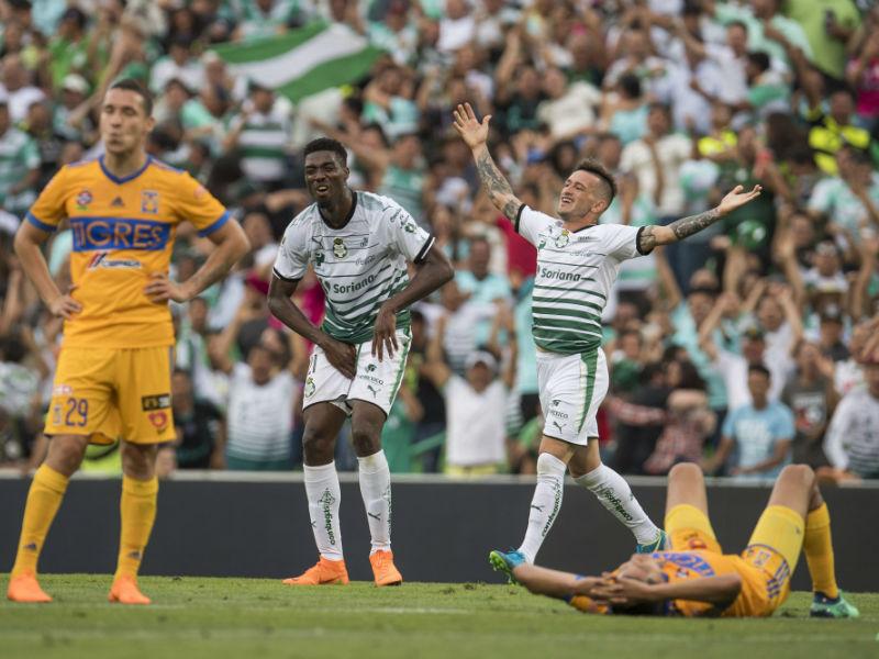 Santos se 'la rompió' y eliminó a Tigres con mucho corazón