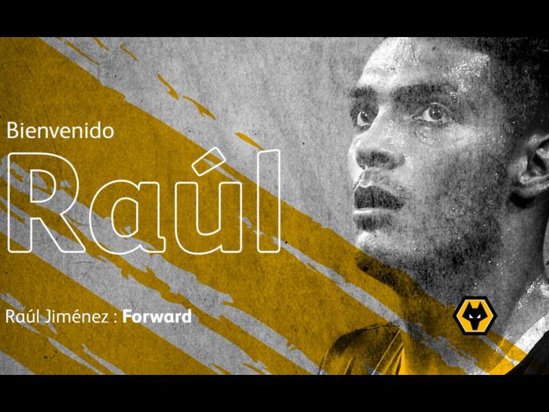 Raúl Jiménez, nuevo jugador de los Wolves