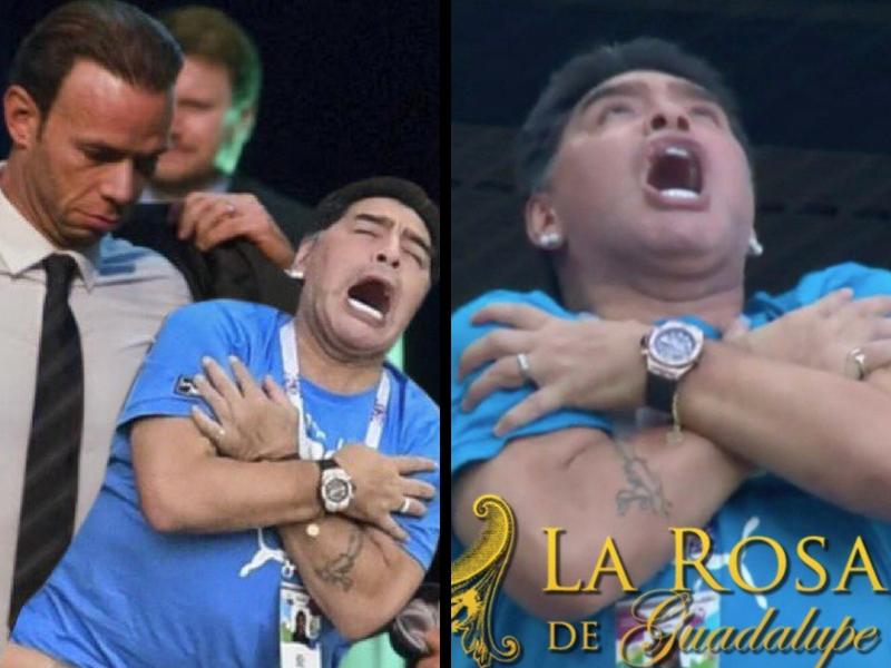 A Maradona le dio frío y los memes no lo perdonaron