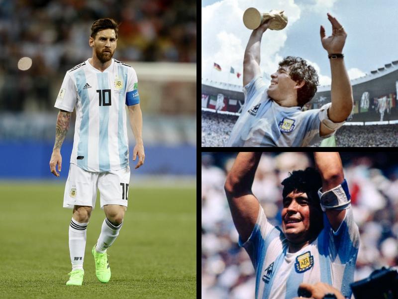¿Maradona o Messi?, los números de ambos con Argentina