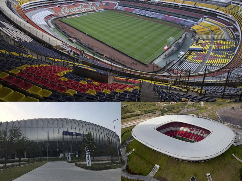 Estos son los estadios de México que albergarán Mundial 2026