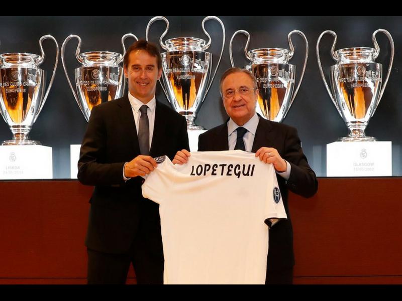 Sonriente, Lopetegui es presentado por el Real Madrid
