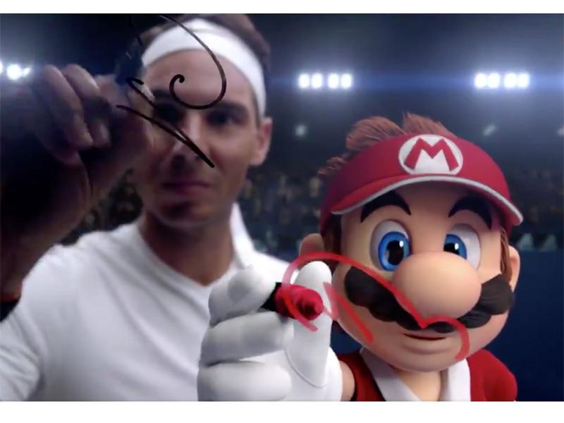 Mario Bros reta a Rafa Nadal en videojuego