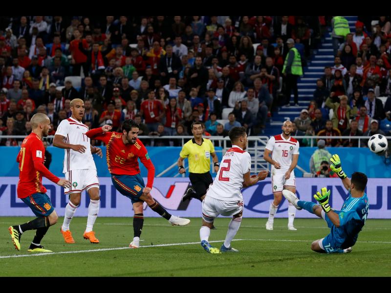 Sufrido pase de España, Marruecos digno rival