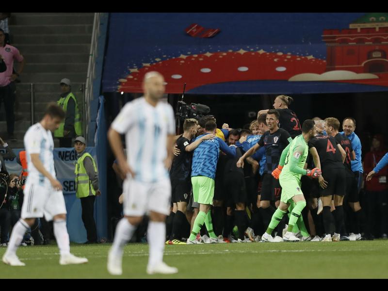 Croacia triunfa ante una Argentina desdibujada